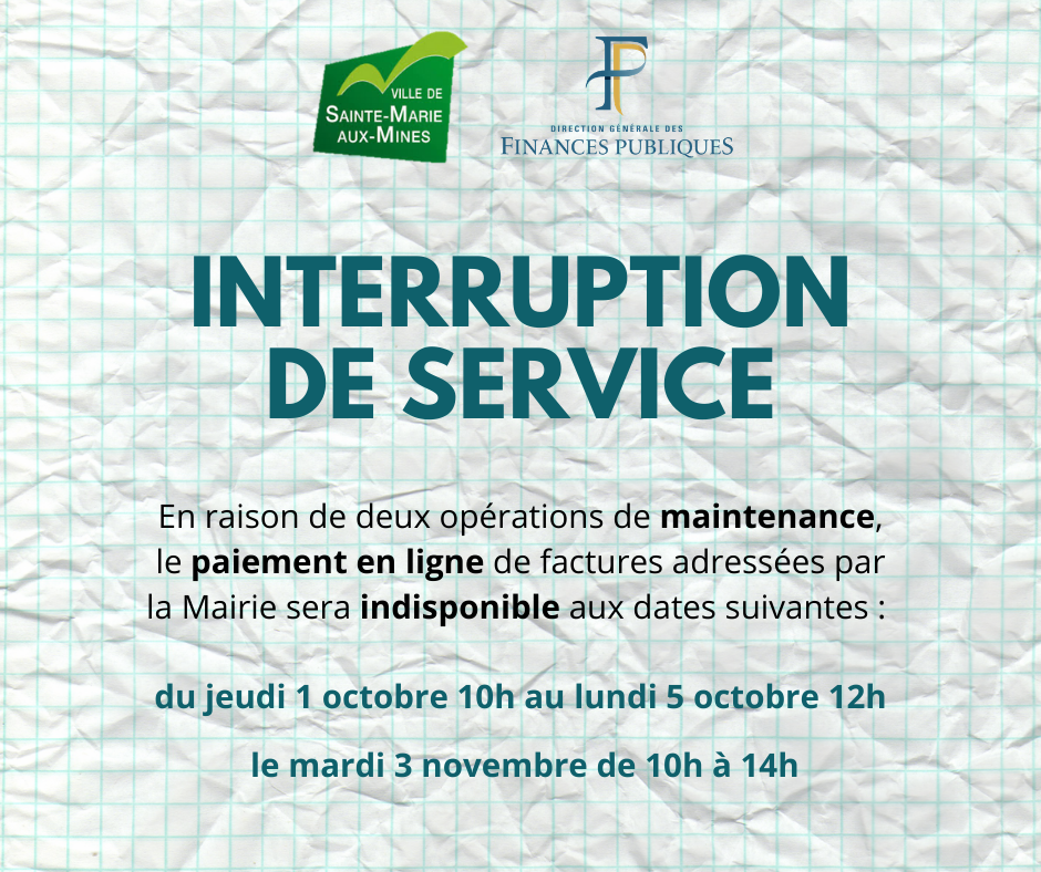 Interruption paiement PayFip